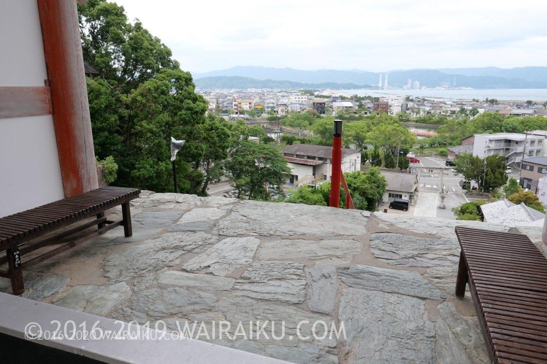 和歌浦天満宮 楼門から見える景色